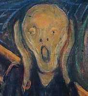 closeup of munch's scream