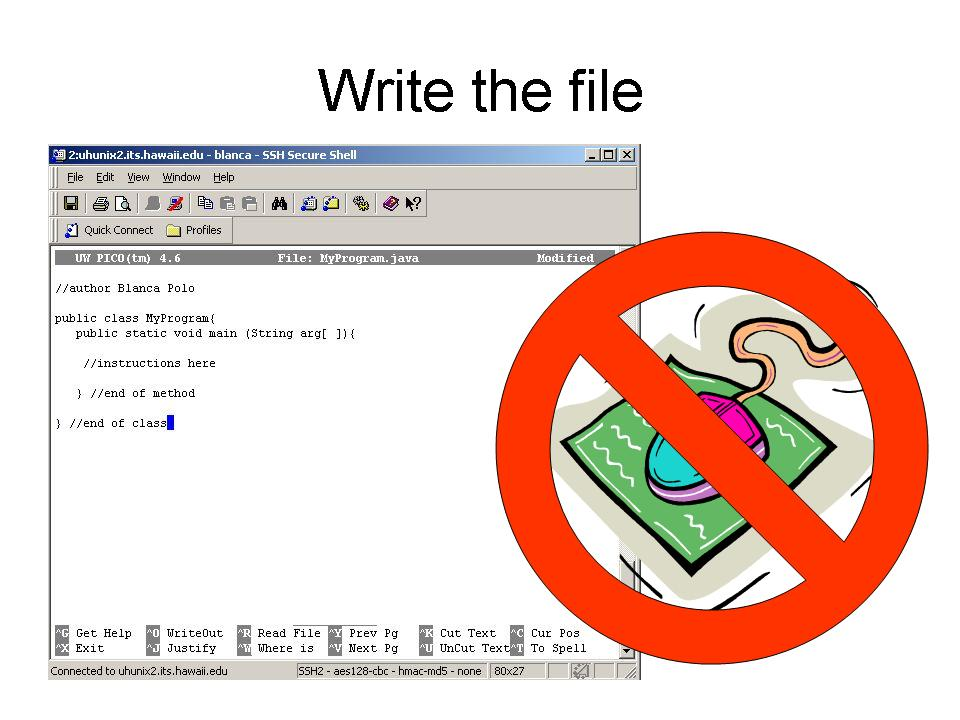 How to edit a file using UNIX Pico