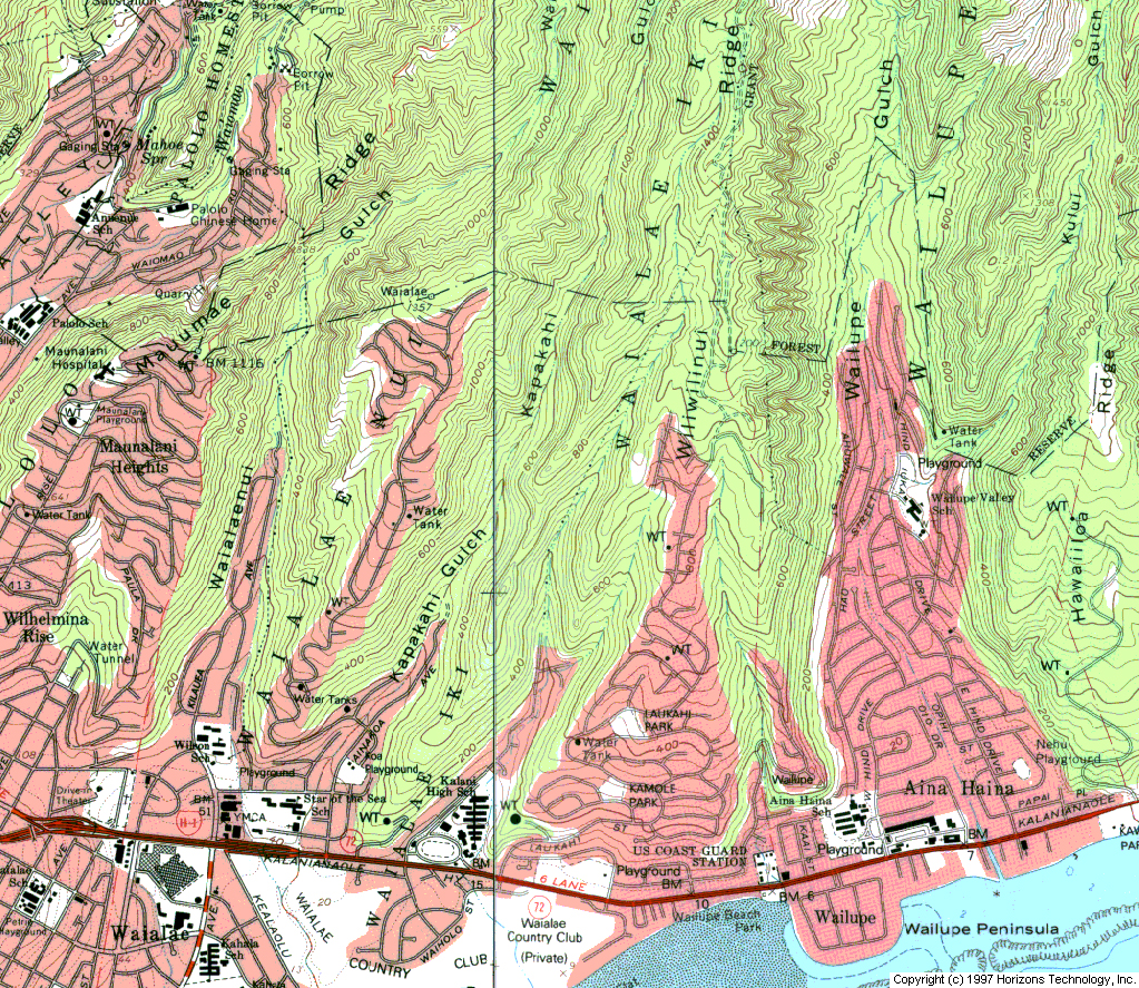 Topographic Map Oahu.Map Links