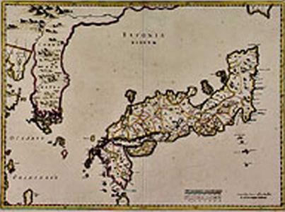 Ancient Map Of Japan.The Failure Of The 16th Century Japanese Invasions Of Korea